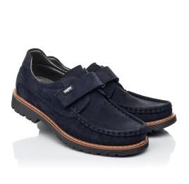 Детские туфли Woopy Fashion синие для мальчиков натуральный нубук размер 26-38 (7060) Фото 1