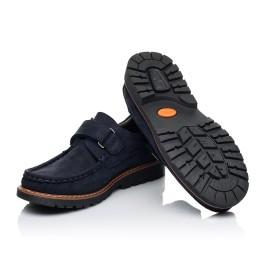 Детские туфли Woopy Fashion синие для мальчиков натуральный нубук размер 26-38 (7060) Фото 2