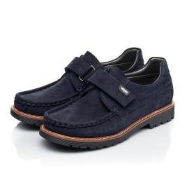 Детские туфли Woopy Fashion синие для мальчиков натуральный нубук размер 26-38 (7060) Фото 3