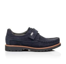 Детские туфли Woopy Fashion синие для мальчиков натуральный нубук размер 26-38 (7060) Фото 4