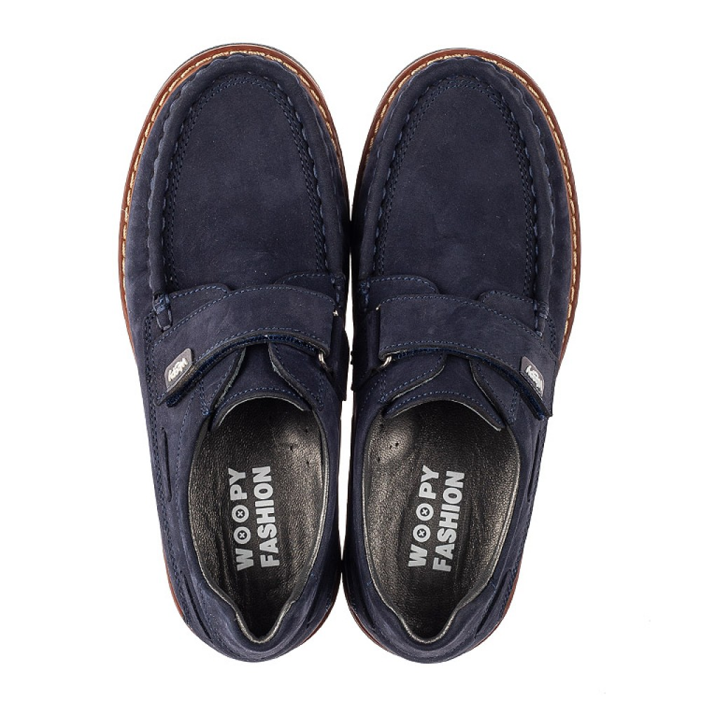 Детские туфли Woopy Fashion синие для мальчиков натуральный нубук размер 26-39 (7060) Фото 5