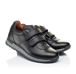 Детские кроссовки Woopy Fashion черные для мальчиков натуральная кожа размер 29-40 (7061) Фото 1