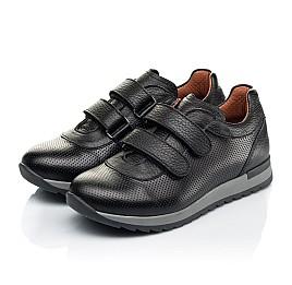 Детские кроссовки Woopy Fashion черные для мальчиков натуральная кожа размер 29-40 (7061) Фото 3