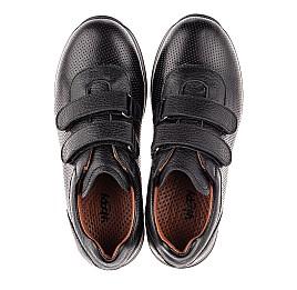 Детские кроссовки Woopy Fashion черные для мальчиков натуральная кожа размер 29-40 (7061) Фото 5
