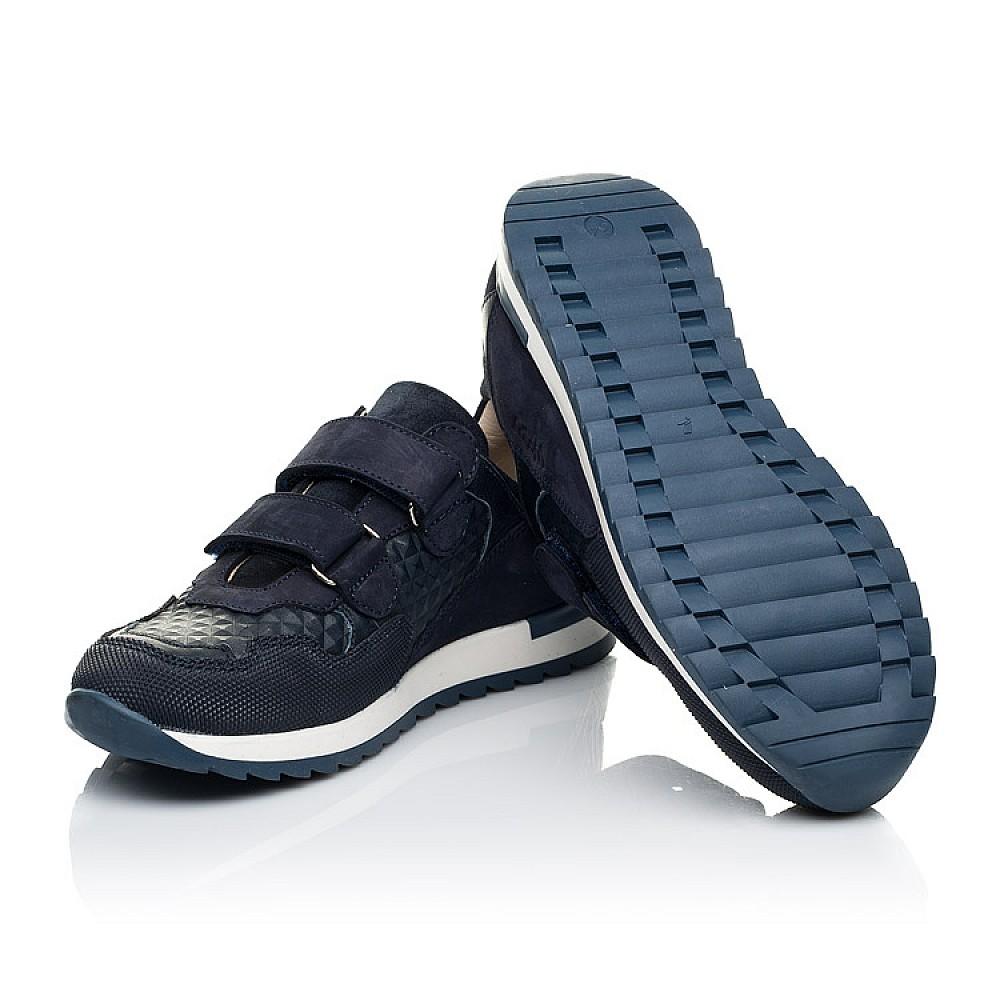 Детские кроссовки Woopy Fashion синие для мальчиков натуральные кожа и нубук размер 29-40 (7065) Фото 2