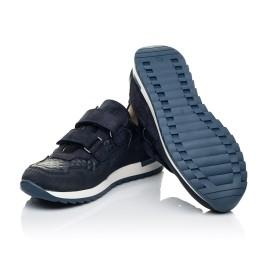 Детские кроссовки Woopy Fashion синие для мальчиков натуральные кожа и нубук размер 29-39 (7065) Фото 2