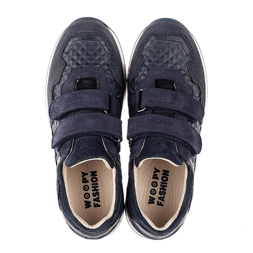 Детские кроссовки Woopy Fashion синие для мальчиков натуральные кожа и нубук размер 29-40 (7065) Фото 5