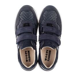 Детские кроссовки Woopy Fashion синие для мальчиков натуральные кожа и нубук размер 29-39 (7065) Фото 5