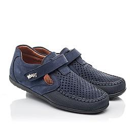 Детские туфли Woopy Fashion синие для мальчиков натуральный нубук размер 29-38 (7066) Фото 1