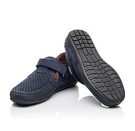 Детские туфли Woopy Fashion синие для мальчиков натуральный нубук размер 29-35 (7066) Фото 2