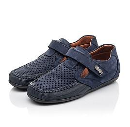 Детские туфли Woopy Fashion синие для мальчиков натуральный нубук размер 29-35 (7066) Фото 3