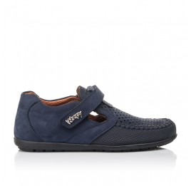Детские туфли Woopy Fashion синие для мальчиков натуральный нубук размер 29-35 (7066) Фото 4