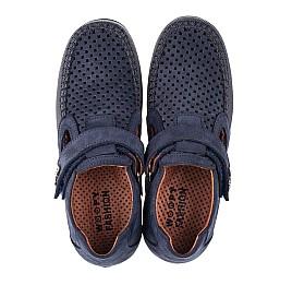 Детские туфли Woopy Fashion синие для мальчиков натуральный нубук размер 29-35 (7066) Фото 5