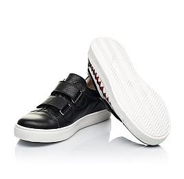 Детские кеды Woopy Fashion черные для девочек натуральная кожа размер 21-40 (7067) Фото 2