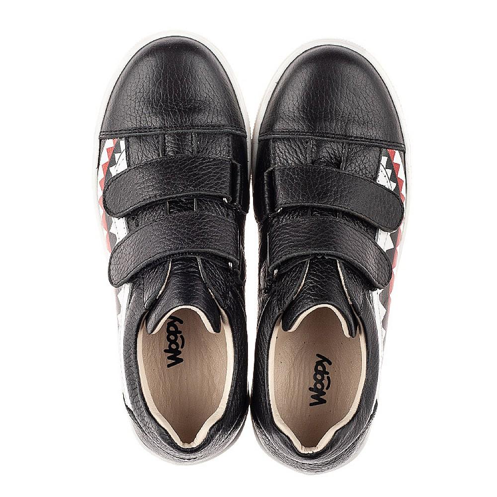 Детские кеды Woopy Fashion черные для девочек натуральная кожа размер 29-36 (7067) Фото 5