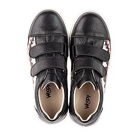 Детские кеды Woopy Fashion черные для девочек натуральная кожа размер 21-40 (7067) Фото 5