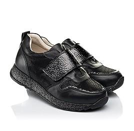 Детские кроссовки Woopy Fashion черные для девочек натуральный нубук и кожа размер 26-26 (7069) Фото 1
