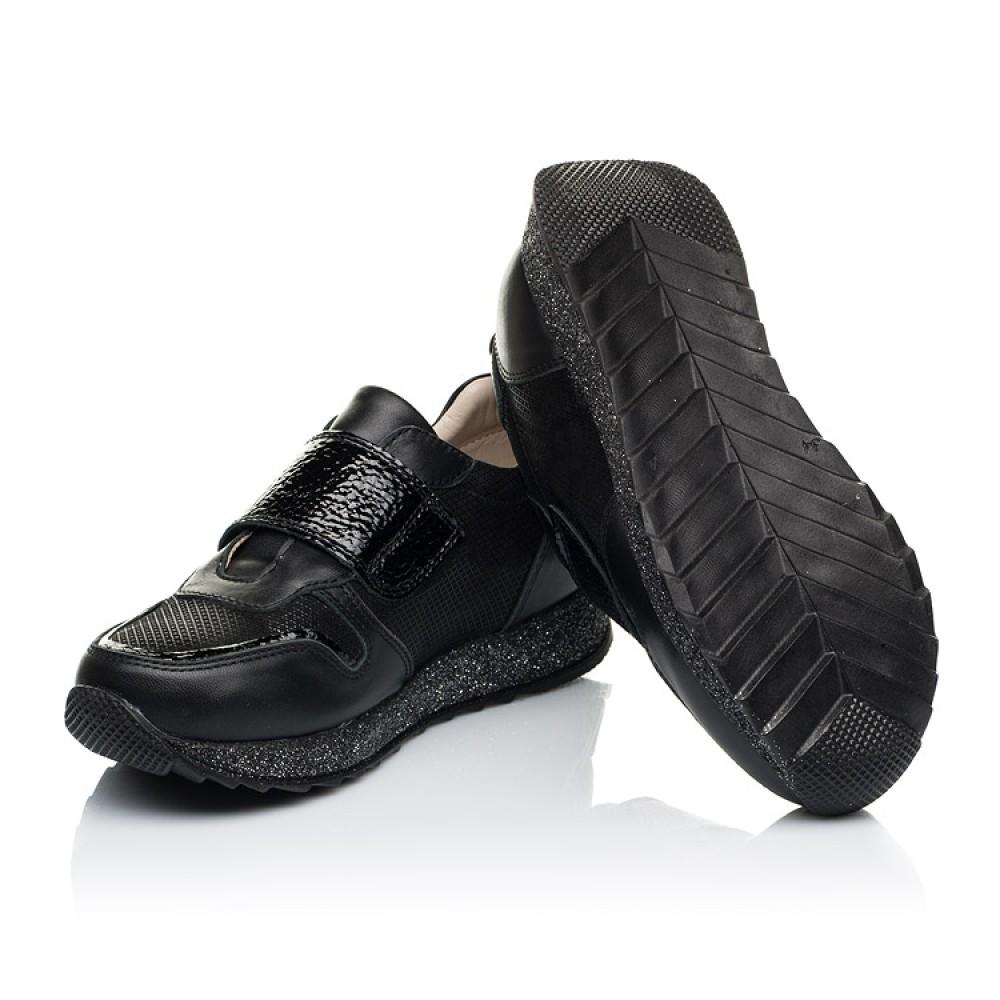 Детские кроссовки Woopy Fashion черные для девочек натуральный нубук и кожа размер 26-39 (7069) Фото 2