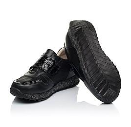 Детские кроссовки Woopy Fashion черные для девочек натуральный нубук и кожа размер 26-26 (7069) Фото 2