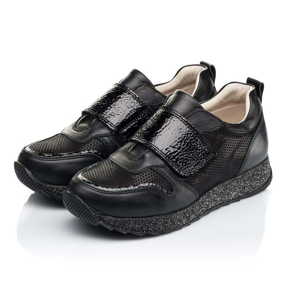 Детские кроссовки Woopy Fashion черные для девочек натуральный нубук и кожа размер 26-39 (7069) Фото 3