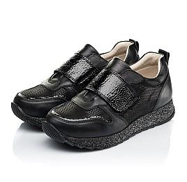 Детские кроссовки Woopy Fashion черные для девочек натуральный нубук и кожа размер 26-26 (7069) Фото 3
