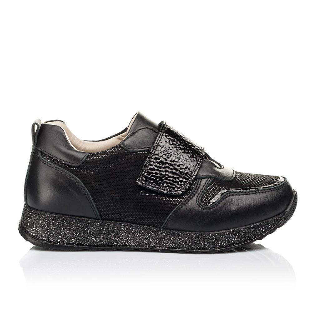 Детские кроссовки Woopy Fashion черные для девочек натуральный нубук и кожа размер 26-39 (7069) Фото 4