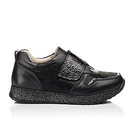Детские кроссовки Woopy Fashion черные для девочек натуральный нубук и кожа размер 26-26 (7069) Фото 4