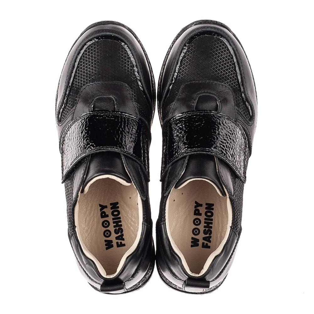 Детские кроссовки Woopy Fashion черные для девочек натуральный нубук и кожа размер 26-39 (7069) Фото 5