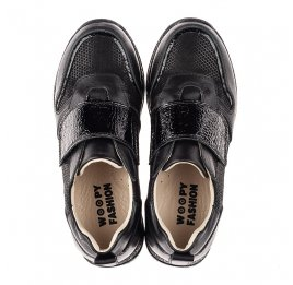 Детские кроссовки Woopy Fashion черные для девочек натуральный нубук и кожа размер 26-26 (7069) Фото 5