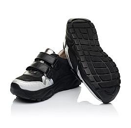 Детские кроссовки Woopy Fashion черные, серебряные для девочек натуральный нубук и кожа размер 28-28 (7070) Фото 2