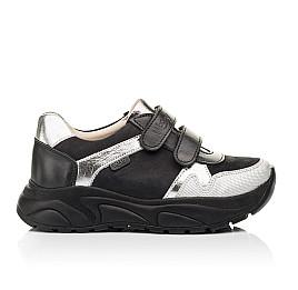 Детские кроссовки Woopy Fashion черные, серебряные для девочек натуральный нубук и кожа размер 28-28 (7070) Фото 4