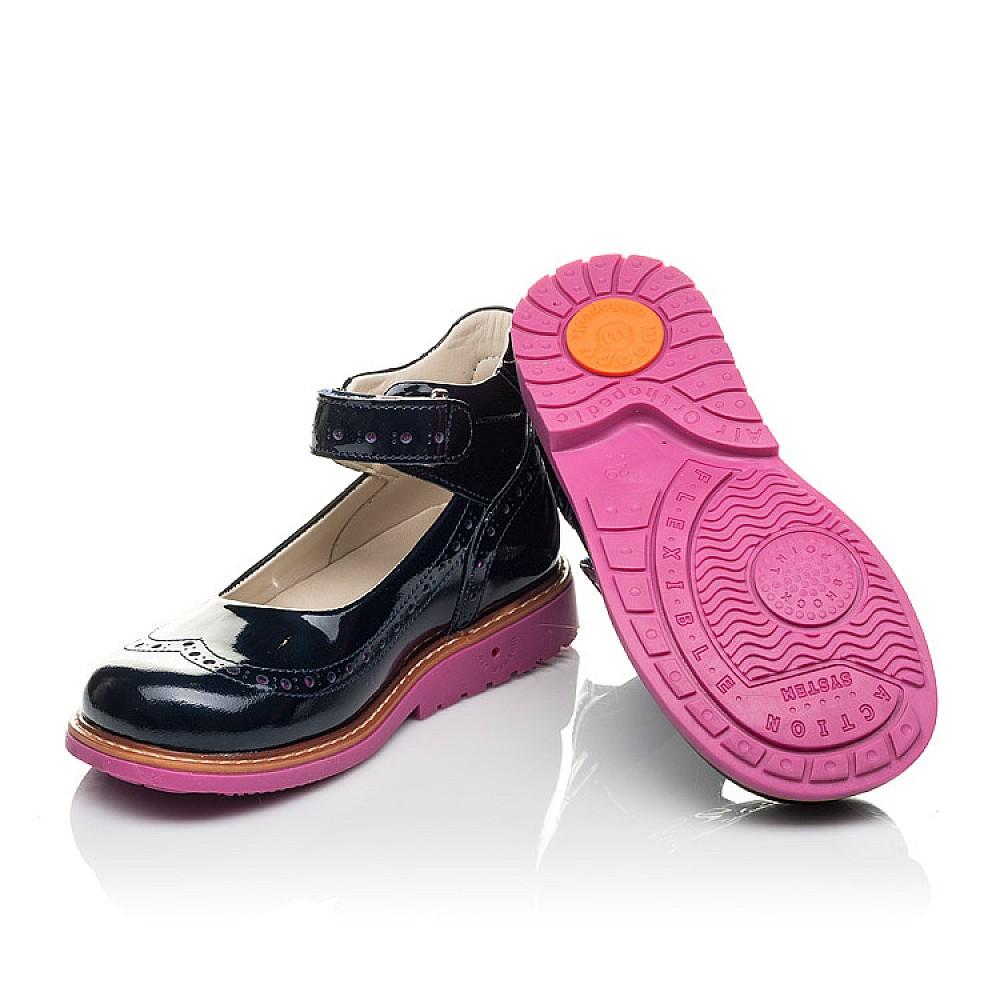 Детские туфли Woopy Orthopedic темно-синие для девочек натуральная лаковая кожа размер 28-36 (7071) Фото 2