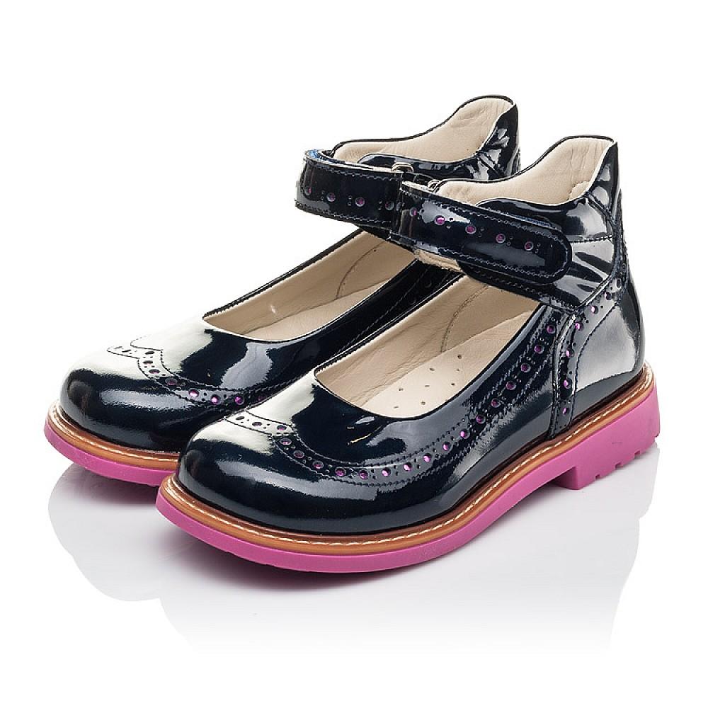 Детские туфли Woopy Orthopedic темно-синие для девочек натуральная лаковая кожа размер 28-36 (7071) Фото 3
