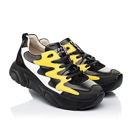 Детские кроссовки Woopy Fashion черные для девочек натуральная кожа размер 31-33 (7072) Фото 1