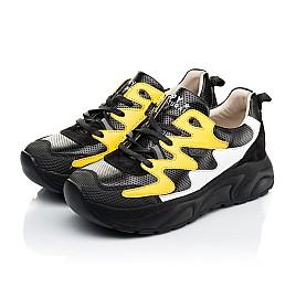 Детские кроссовки Woopy Fashion черные для девочек натуральная кожа размер 31-33 (7072) Фото 3