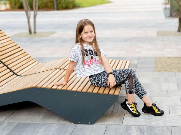 Девочка обута в детские кроссовки Woopy Fashion черные (7072) Фото 2