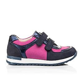 Детские кроссовки Woopy Fashion синие, малиновые для девочек натуральный нубук и кожа размер 25-25 (7073) Фото 4