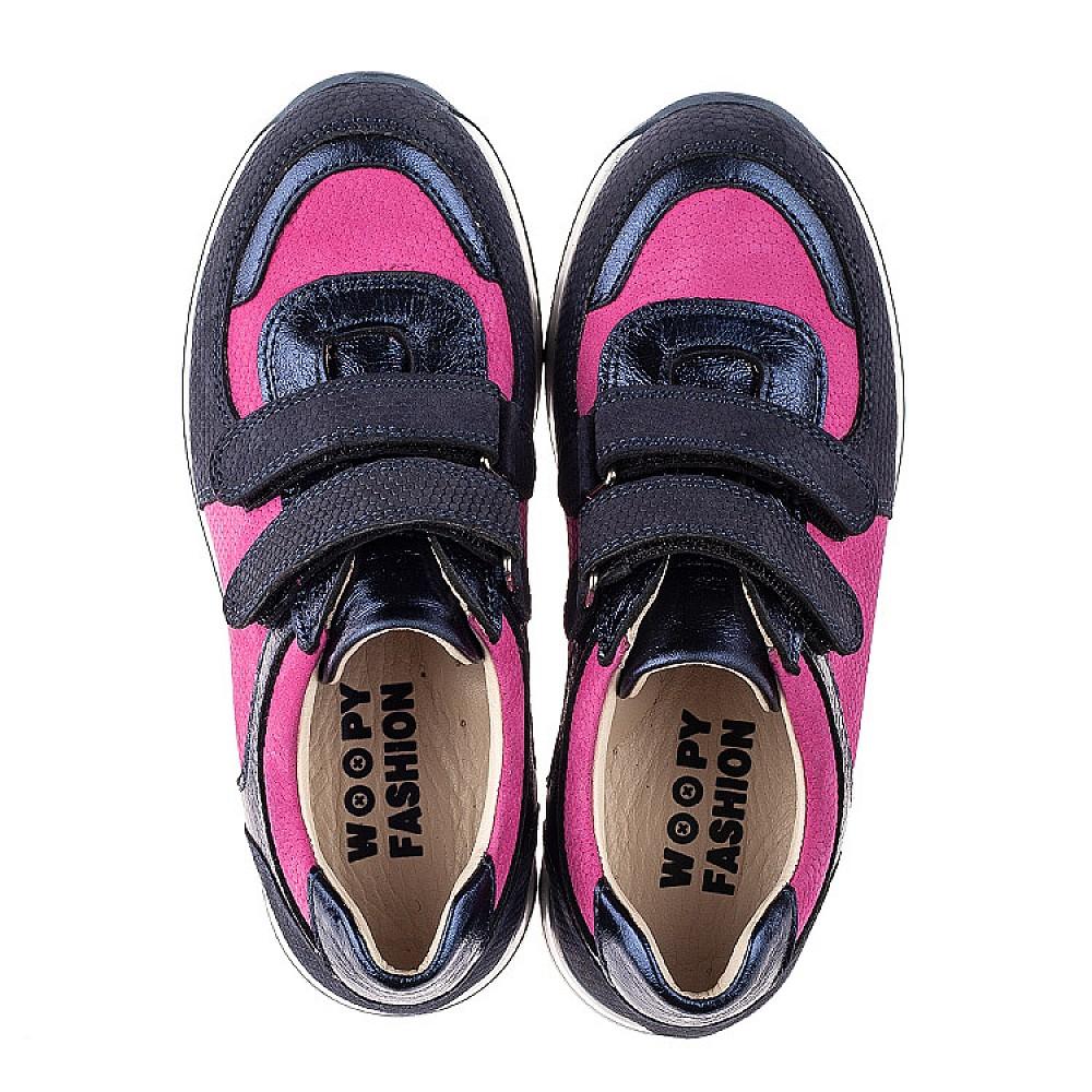 Детские кроссовки Woopy Fashion синие, малиновые для девочек натуральный нубук и кожа размер 23-33 (7073) Фото 5