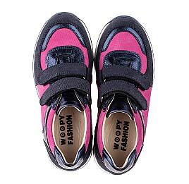 Детские кроссовки Woopy Fashion синие, малиновые для девочек натуральный нубук и кожа размер 25-25 (7073) Фото 5