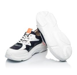 Детские кроссовки Woopy Fashion белые, синие для девочек натуральная кожа и нубук размер 31-40 (7075) Фото 2