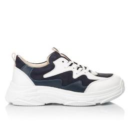 Детские кроссовки Woopy Fashion белые, синие для девочек натуральная кожа и нубук размер 31-37 (7075) Фото 4