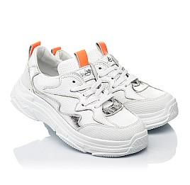 Детские кроссовки Woopy Fashion белые для девочек натуральная кожа размер 31-40 (7076) Фото 1