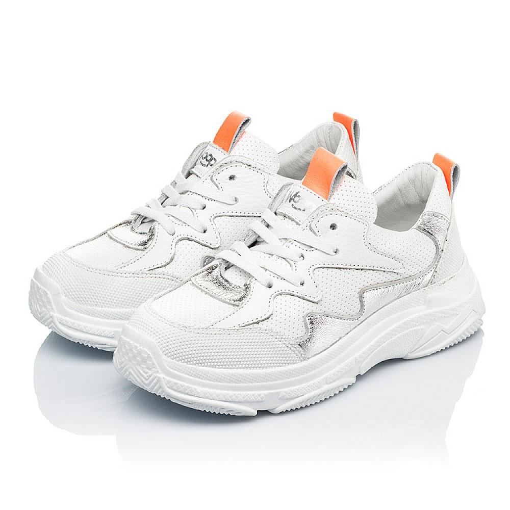 Детские кроссовки Woopy Fashion белые для девочек натуральная кожа размер 31-40 (7076) Фото 3