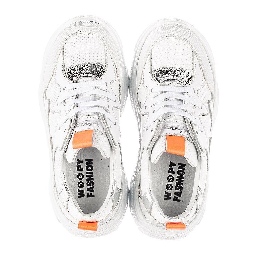 Детские кроссовки Woopy Fashion белые для девочек натуральная кожа размер 31-40 (7076) Фото 5