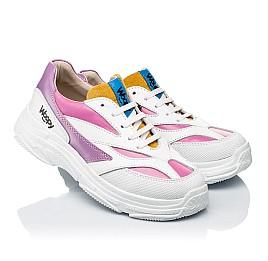 Детские кроссовки Woopy Fashion разноцветные для девочек натуральная кожа размер 31-37 (7077) Фото 1
