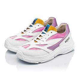 Детские кроссовки Woopy Fashion разноцветные для девочек натуральная кожа размер 31-37 (7077) Фото 3