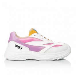 Детские кроссовки Woopy Fashion разноцветные для девочек натуральная кожа размер 31-37 (7077) Фото 4