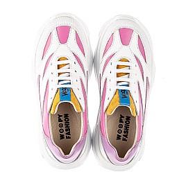 Детские кроссовки Woopy Fashion разноцветные для девочек натуральная кожа размер 31-37 (7077) Фото 5
