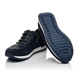 Детские кроссовки (боковая молния) Woopy Fashion темно-синие для девочек натуральная кожа и нубук размер 31-31 (7079) Фото 2