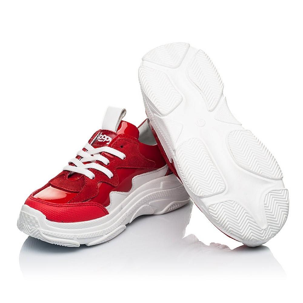 Детские кроссовки Woopy Fashion белые,красные для девочек натуральная замша, лаковая кожа размер 31-39 (7080) Фото 2